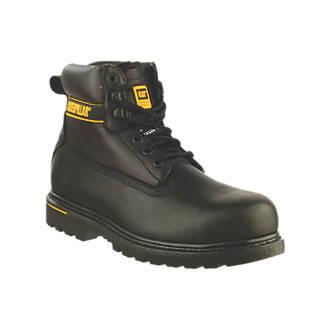 Chaussures de sécurité montantes CAT Holton SB noires taille 39