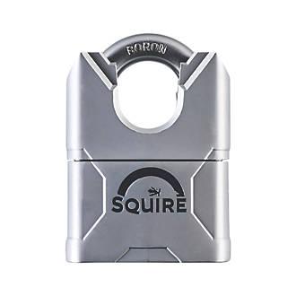 Cadenas à anse fermée résistant aux intempéries à clé commune en acier MERC50CSKA Squire 55mm