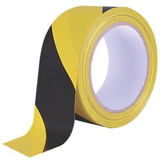 Ruban de signalisation Diall noir / jaune 33m x 50mm