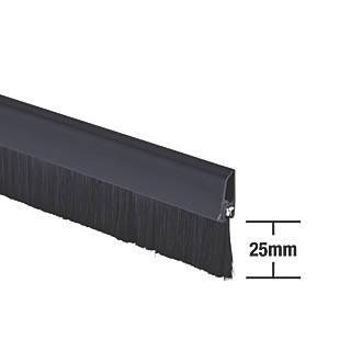 Joint anticourant de-air à brosse pour dessous de porte Stormguard noir 1m