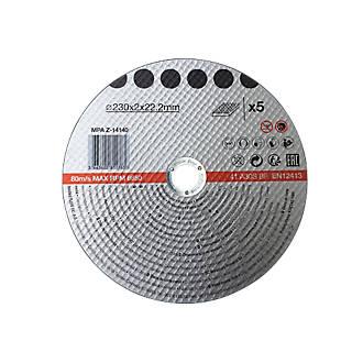 Disque de coupe métal 230x2x22,2mm 5pièces