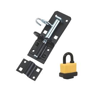 Kit de verrou pour portail Hardware Solutions noir 130mm