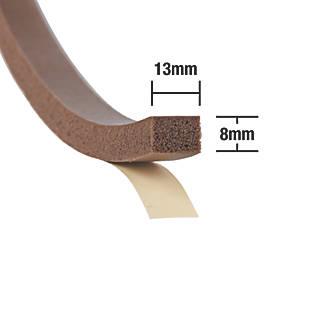 Lot de 2coupe-bise extra épais Stormguard marron 3,5m
