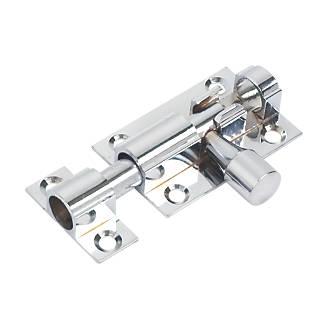 Targette droite en chrome poli 38mm
