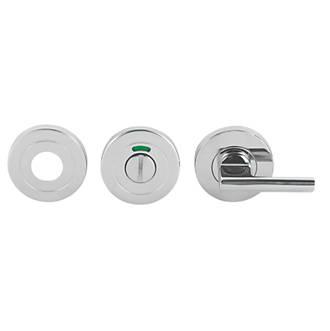 Kit de verrou à bouton à barrette pour WC à levier Eurospec en acier inoxydable poli 52mm