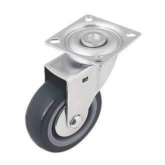Roulette pivotante en caoutchouc thermoplastique à usage intensif 75mm