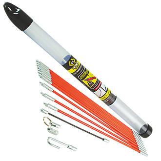 Kit de baguettes tire-fils flexibles 6mm C.K Mighty Rod 3,3m