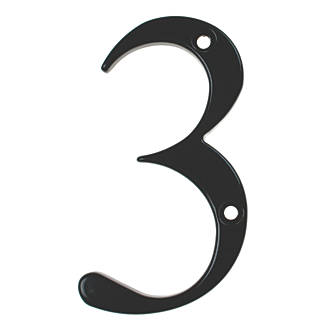 Numéro de porte3 Fab&Fix noir 80mm