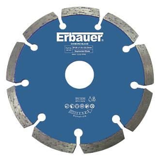 Disques diamant de rainurage pour maçonnerie/pierre Erbauer 125 x 22,23mm, lot de 2