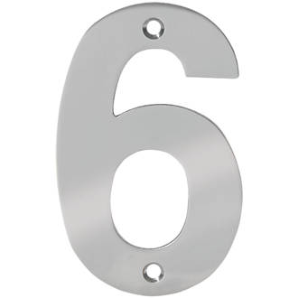 Numéro de porte6 Eclipse en acier inoxydable poli 100mm