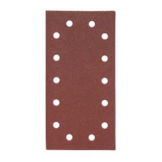 Lot de 5feuilles abrasives perforées Flexovit Orbital ½ 230 x 115mm grain80