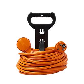 Rallonge orange Diall H05VVF 1 prise 1.5mm² 40m avec clapet
