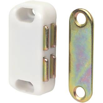 10loqueteaux magnétiques pour placard blancs 42 x20mm