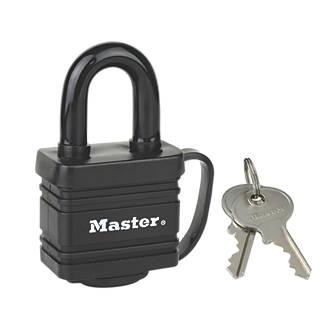Lot de 2cadenas à clé commune étanche en acier laminé Master Lock 7804EURD 40mm