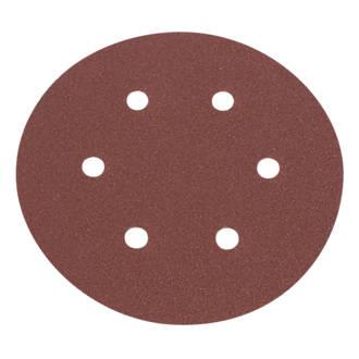 Lot de 6disques de ponçages perforés Flexovit 150mm grain50 / 80 / 120