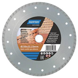 Disque de coupe diamant multi-matériaux Norton 230 x 22,23mm