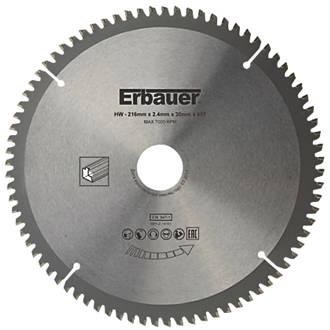 Lame de scie TCT 80dents Erbauer 216 x 30mm