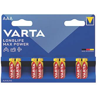 Lot de 8piles AAA puissance max. longue durée Varta