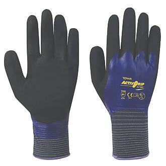 Gants entièrement revêtus de nitrile Towa ActivGrip CJ-569 violets tailleL