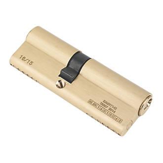 Serrure à double cylindre européen à 6points Smith & Locke 1* 40-50 (90mm), laiton poli
