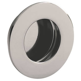 Poignée de tirage encastrée circulaire Eurospec 78mm en acier inoxydable poli