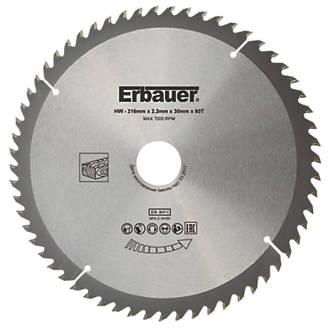 Lame de scie TCT 60dents Erbauer 216 x 30mm