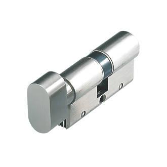 Cylindre et barrette tournante Euro à 10 goupilles sérieS Astral Cisa 35-45 (80mm) nickelés