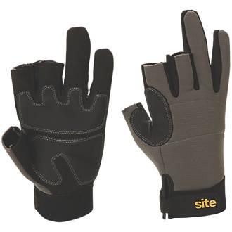 Gants d'artisan à 3doigts hautes performances Site KF420 gris / noir tailleL
