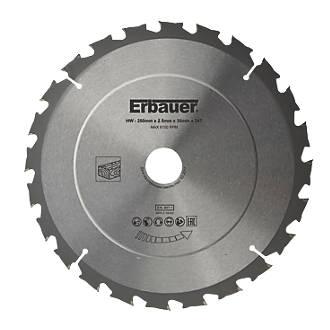Lame de scie TCT 24dents Erbauer 250 x 30mm