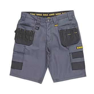 """Short de travail multi-poches DeWalt Ripstop gris / noir, tour de taille 34"""""""