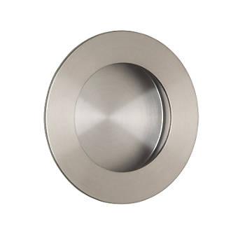 Poignée de tirage encastrée circulaire Eurospec 78mm en acier inoxydable satiné