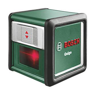 Niveau laser en croix à faisceau rouge et mise à niveau automatique Bosch Quigo