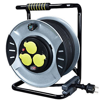 Enrouleur de chantier Diall H07RNF 3 prises 1.5mm² 40m