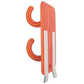10supports de câble temporaires à 2crochets Tidi Cable orange foncé