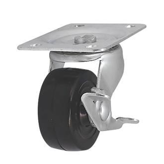 Roulette pivotante avec frein à usage intensif 65mm