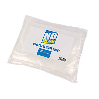 Bâches antipoussière en polyéthylène No Nonsense 12' x 9', lot de 2