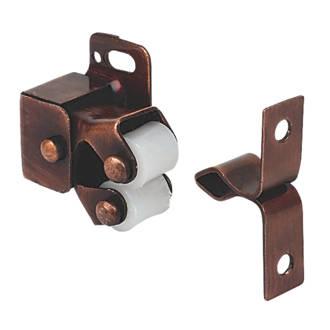 Lot de 10loqueteaux de meuble à rouleaux effet bronze32 x25mm