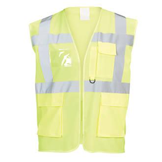 """Gilet haute visibilité à poches multiples jaune tailleS / M, tour de poitrine 48¾"""""""