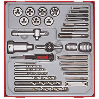Assortiment de 34tarauds et filières métriques 3-12mm Teng Tools
