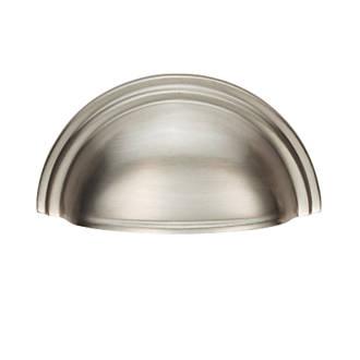 Poignée de tirage de placard demi-ronde style victorien Carlisle Brass 92mm en nickel satiné