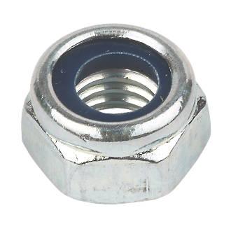 100contre-écrous en nylon et acier zingué brillant Easyfix M8