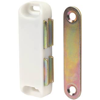 10loqueteaux magnétiques pour placard blancs 65 x20mm
