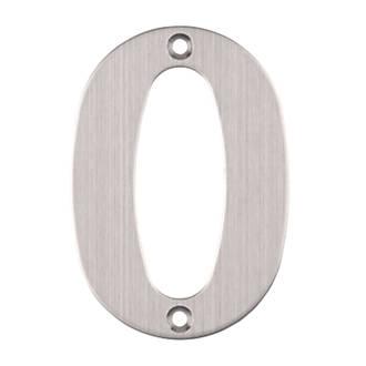 Numéro de porte0 Eclipse en acier inoxydable satiné 102mm