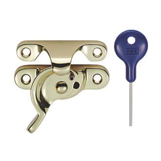Fixation de-ouvrant verrouillable à motif tourniquet Carlisle Brass en laiton poli68 x25mm