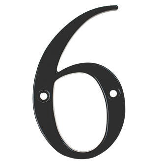 Numéro de porte6/9 Fab&Fix noir 80mm