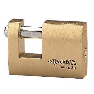 Cadenas bloc résistant aux intempéries en laiton Cisa 52mm