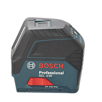 Niveau laser en croix Bosch Professional GCL2-50 avec récepteur LR6