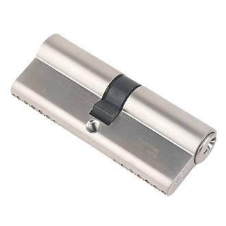 Serrure à double cylindre européen à 6points Smith&Locke 1* 40-40 (80mm) en nickel poli
