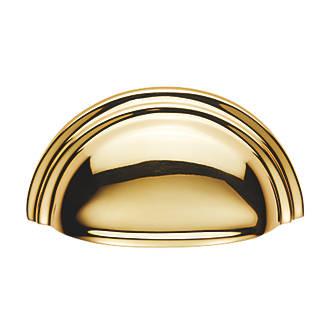 Poignée de tirage de placard demi-ronde style victorien Carlisle Brass 92mm en laiton poli