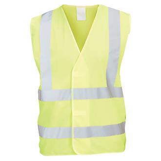 """Gilet haute visibilité jaune tailleS / M, tour de poitrine 48¾"""""""